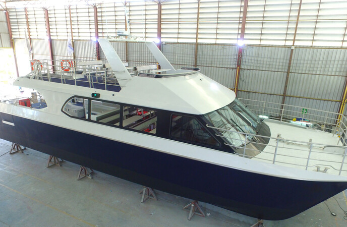 16M ALLOY POWER CATAMARAN O/B